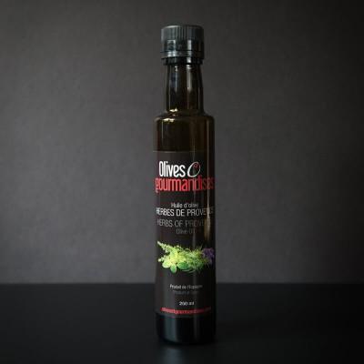 Olives et gourmandises - Huile d'olive herbes de provence - 250 ml